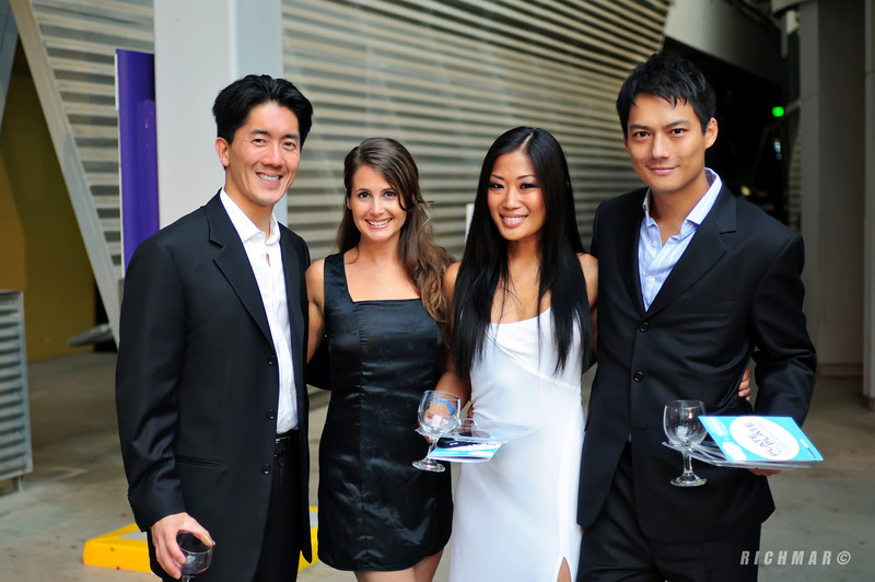 Ted Chin and Archie Kao with their dates