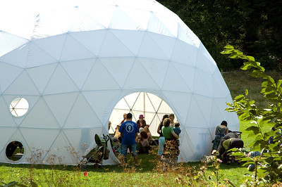 Geodesic Dome performance center.