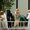Record-Eagle/Jan-Michael Stump<br /> Lakeland Elementary School's Luke Skywalker float makes it's way down Front Street during Saturday's National Cherry Festival Cherry Royale Parade
