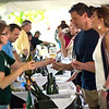 Record-Eagle/Jan-Michael Stump<br /> The Global Wine Pavilion  Friday at Marina Park during the National Cherry Festival. The event featured 14 wine importers, 3 beer importers and 4 restaurants, and had nearly 400 visitors on it's first night.