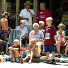 Record-Eagle/Jan-Michael Stump<br /> People line Front Street to watch Saturday's National Cherry Festival Cherry Royale Parade