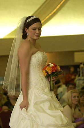 Record-Eagle/Garret Leiva<br /> The 15th annual Downtown Bridal Show featured a bridal fashion show with wedding wear from To Have & To Hold Bridal Boutique & Formal Wear, Captain's Quarters and Bay Bridal Boutique.