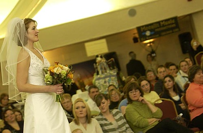 Record-Eagle/Garret Leiva<br /> The 15th annual Downtown Bridal Show held Sunday at the Park Place Dome featured a bridal fashion show with wedding wear from To Have & To Hold Bridal Boutique & Formal Wear, Captain's Quarters and Bay Bridal Boutique.