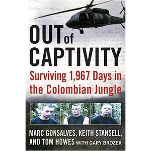 The cover of the book written by the three hostages.