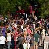 Record-Eagle photo/Jan-Michael Stump<br /> People gather on a closed Front Street as The Traverse City Film Festival kicked off its fifth year with opening ceremonies outside the State Theatre. Traverse City filmmaker Rich Brauer was presented the Michigan Filmmaker Award.