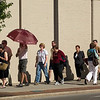 "Record-Eagle photo/Jan-Michael Stump<br /> A line wraps around the corner and down Union Street before the doors of the City Opera House open for Wednesday evening's screening of ""Enemies, A Love Story."""