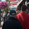 "Record-Eagle/Douglas Tesner<br /> Fans stand in line outside the State Theatre for the viewing of ""Mike's Surprise."""