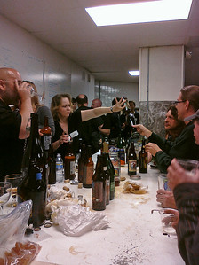 Private beer tasting: the pouring table