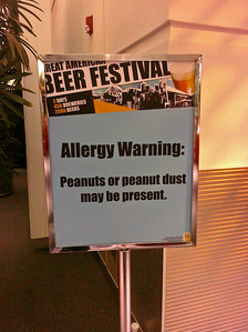 GABF: oddly, there wasn't an alcohol warning label anywhere.