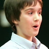 Record-Eagle/Douglas Tesner<br /> Lukas Blakkan-Esser has a happy look on his face as he wins the 28th Annual Grand Traverse Regional Spelling Bee held at the City Opera House in Traverse City.