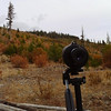 spotting scope at camp site