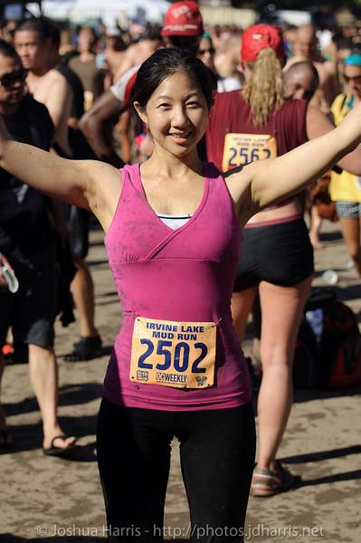 Connie celebrating a good run!