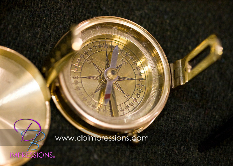 A reproduction compass that would have been used by early settlers.