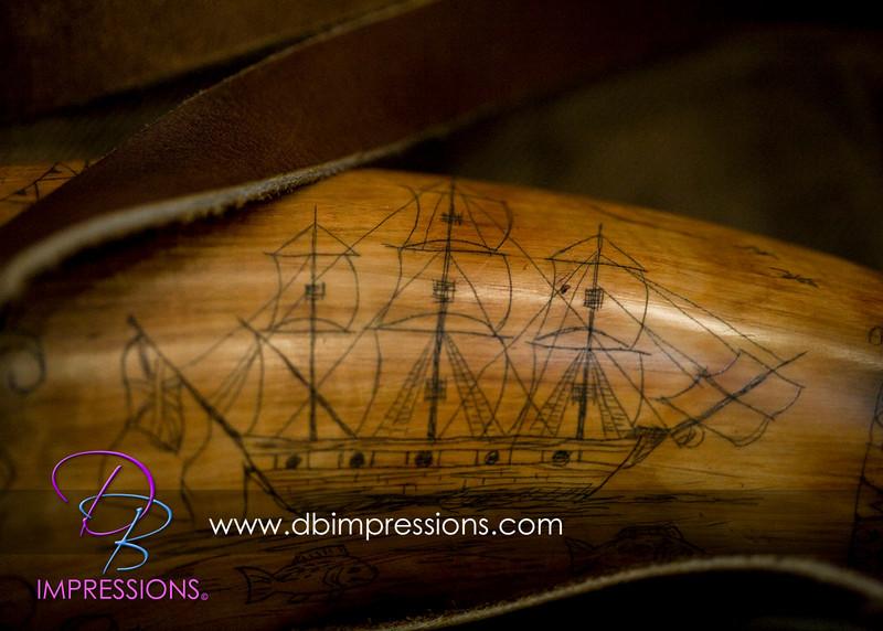 More detailed skrimshaw engraving. Beautifully done.