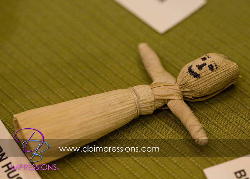 Tiny corn husk doll, authentic reproduction.