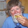 John is loving the lobster roll.