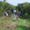 Wildlife Youth Volunteers working on rail trail
