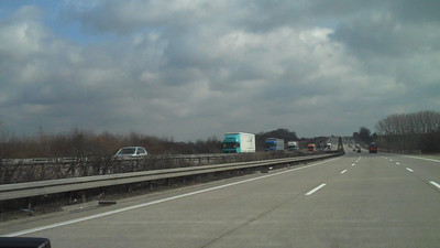Flying down the Autobahn to Berlin.