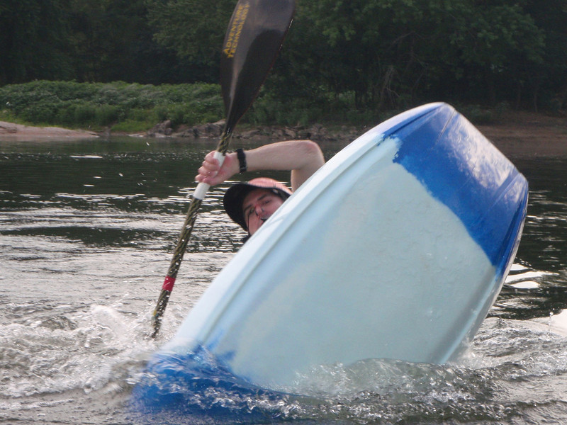Me playing some more...in the middle of a double pump to go into an ender (vertical on the bow - front - of the boat) :)