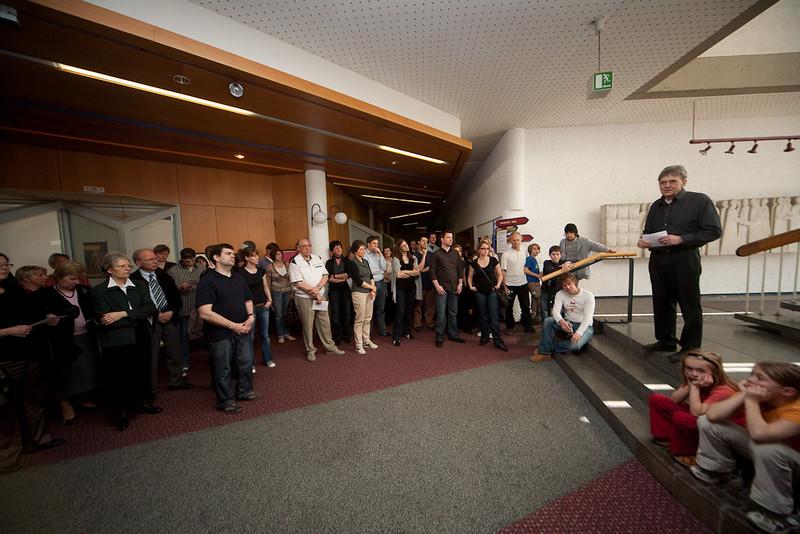 Viele Besuche bei der Eröffnung mit Wolfgang Günther