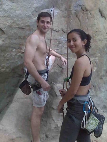 We climb better shirtless..