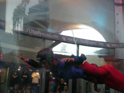 Guy's 14th Birthday gift was a trip to iFly at Universal City Walk!