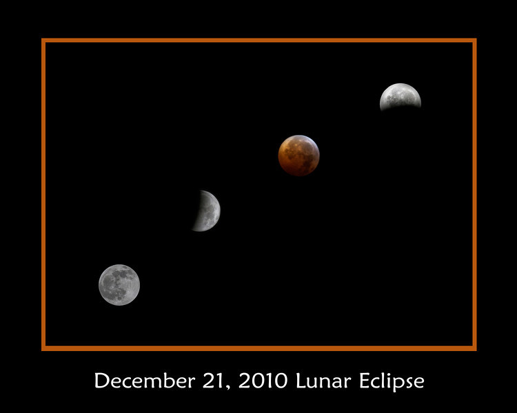 Eclipse montage close up