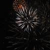 Fireworks explode during the show at the Denton, Texas Kiwanis Club celebration.