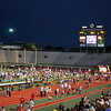 Crowd gathers at Fouts field, UNT to view the fireworks show sponsored by the Denton Kiwanis Club.