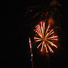 Fireworks explode during the show at the Denton, Texas Kiwanis Club celebration.