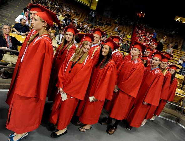 "Fairview seniors line up to march to their graduation.<br /> For more photos and a video, go to  <a href=""http://www.dailycamera.com"">http://www.dailycamera.com</a>.<br /> Cliff Grassmick / May 23, 2010"