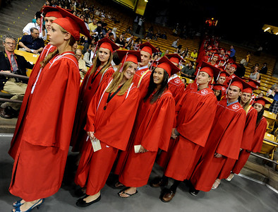 Fairview seniors line up to march to their graduation. For more photos and a video, go to www.dailycamera.com. Cliff Grassmick / May 23, 2010