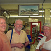 At Heinsohn's Store;  Jay, Helmut, and local resident Leslie Weishuhn