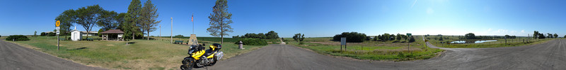 360 degree panorama from above - North at center of pic