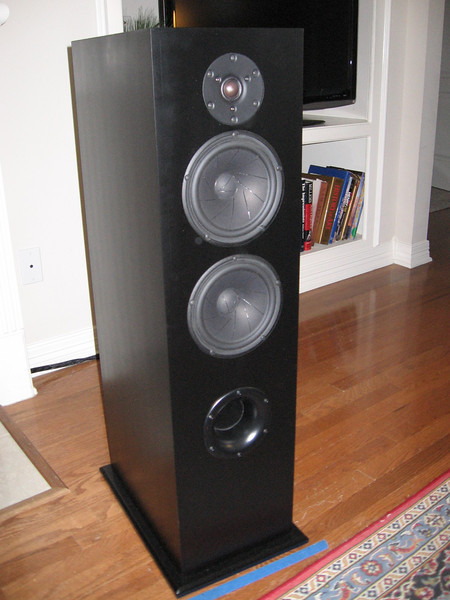 """The Selah Audio TRT's are a 2.5-way design incorporating 7"""" Scan Speak Revelator midwoofers and a Scan Speak Revelator Air Circ tweeter. The crossover includes Clarity SA caps and Mills resistors in the tweeter signal path, and air core inductors throughout."""