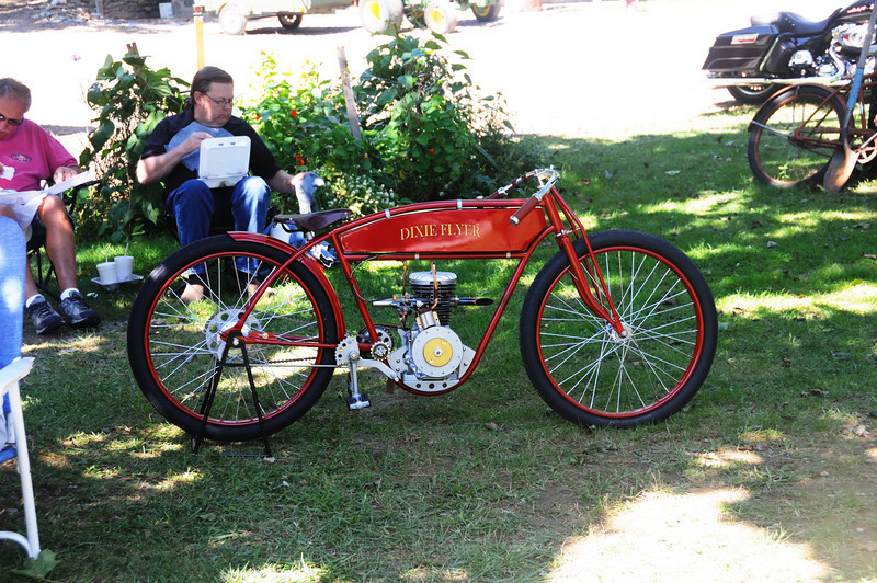 Hand built - donor bike was a Schwinn and the engine is based on a Honda industrial unit.