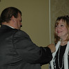 Patty Tarver so happy to be pinned with New President's Pin!