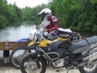 ADV riders taking a break at the Peshtigo.