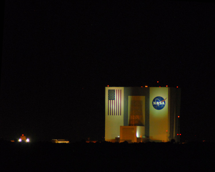 This mission started at the vehicle assembly building