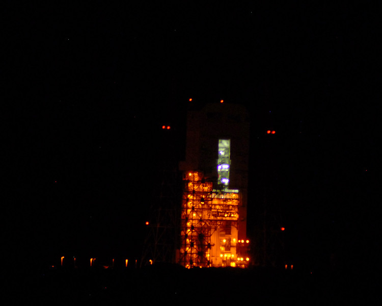 Over on pad 37 an Atlas V rocket waits for later in the week