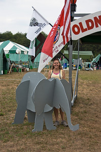 Helen with Old North State Elephant