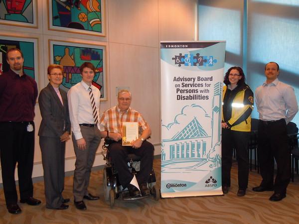 Accessible Parking Awareness Week Media Kick-off 2010. Photographer: Leslie Tanzi. November 22, 2010