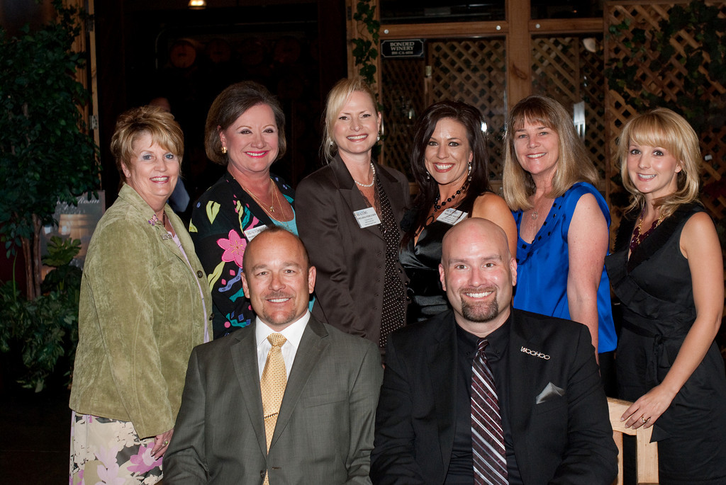 Standing Left to right: Lorraine Young, Marilyn Lawhead, Melissa Ferguson, Kellee Sauter, Reene Faulstich, Stephanie Frank<br /> <br /> Seated in front :  Andrew Rearick, NSD WCR President, Jude Harrison, NSD WCR Vice President