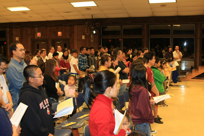 Opening mass on Friday.