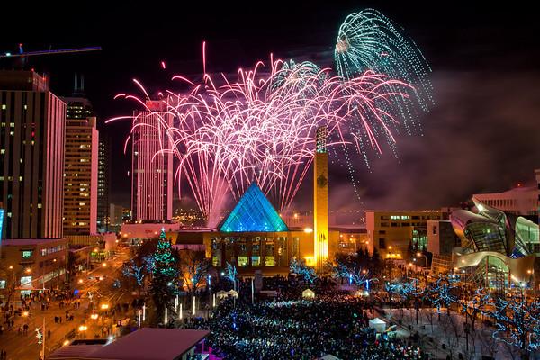 New Years Eve 2010 - Churchill Square, Edmonton Photographer: Anthony P. Jones