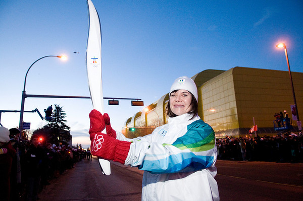 Edmonton Olympic Torch Relay - January 2010
