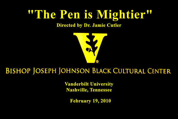 """The Pen is Mightier"" directed by Dr. Jamie Cutler"