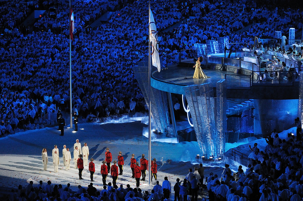 Rising of the Olympic Flag