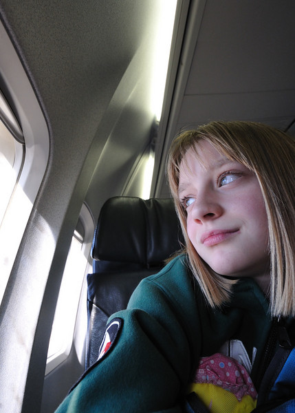Clare by the window seat 23F