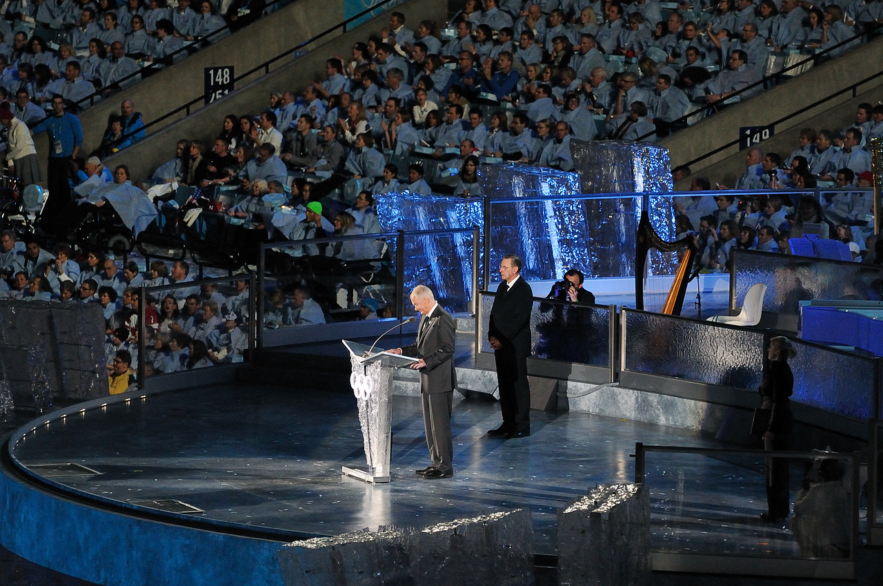 Opening of the Games.. Jacques Rogge President IOC and John Furlong CEO VANOC